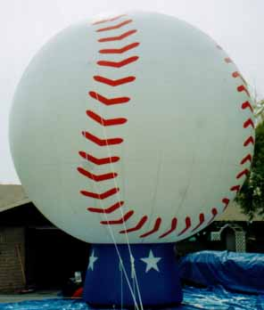 Baseball balloon - 25ft. tall baseball advertising inflatables for rent and sale.