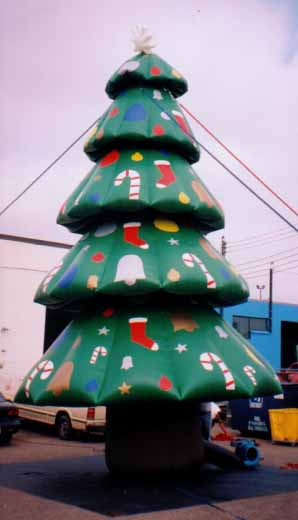 Christmas Tree advertising inflatables available for rental nationwide.