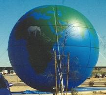 earth balloons - globe inflatables for sale and rent.