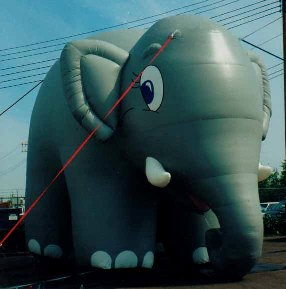 elephant inflatables for sale and rent.