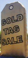 Gold Tag Sale advertising inflatables