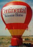 Advertising balloons for rent. 35ft. tall balloons really increase your visibility.