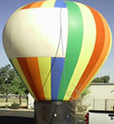 Hot-air balloon shape cold-air inflatables for sale and rent!