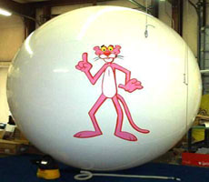 Advertising balloon with Pink Panther log