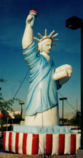 Statue of Liberty giant advertising balloons available. Giant Balloons for sale or rent!