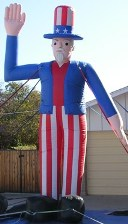 20ft. Uncle sam cold-air balloons for sale and rent.Patriotic balloons for events.