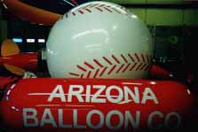 helium baseball shape balloon