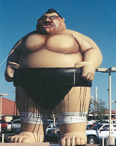 Big Sumo inflatable - 25ft. some wrestler balloon