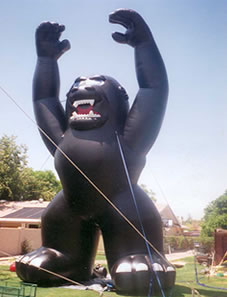 Black Kong - we have many cold-air advertising inflatables available for rental.