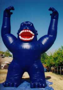 Blue kong cold-air advertising inflatable