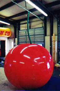 Cherry balloons and cherry shape helium balloons available. We can add logos, artwork and lettering to your cherry balloon.