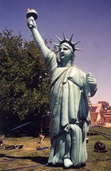 Statue of Liberty patriotic holiday inflatables for sale and rent!18ft. cold-air balloon.