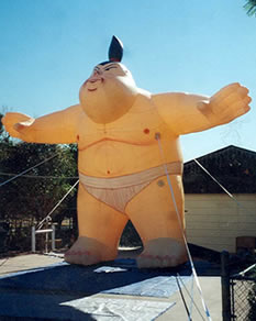 Little Sumo cold-air inflatable - 20ft. sumo wrestler inflatables for sale and rent.