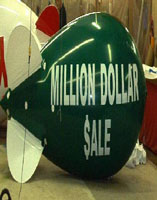 Have your advertising balloon - blimp your way!  We manufacture helium balloons in the USA.