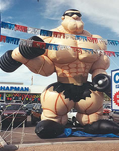 25' muscleman inflatables - great rental balloons.