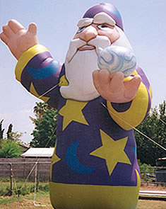 Wizard inflatable for rent